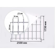 Ограждения из сварных сетчатых панелей серии ZINC-perimetr 1.7