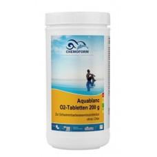 Аквабланк О2 в таблетках (200гр) 1кг. Для дезинфекции воды в бассейнах на основе активного кислорода.