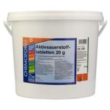 Аквабланк О2 в таблетках (20гр) 10кг. Для дезинфекции воды в бассейнах на основе активного кислорода.