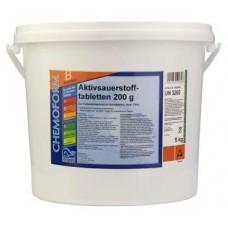 Аквабланк О2 в таблетках (200гр) 10кг. Для дезинфекции воды в бассейнах на основе активного кислорода.