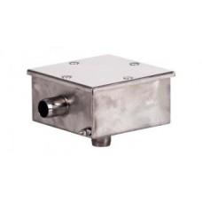 Распаячная ( распределительная) электрическая коробка из нержавеющей стали.